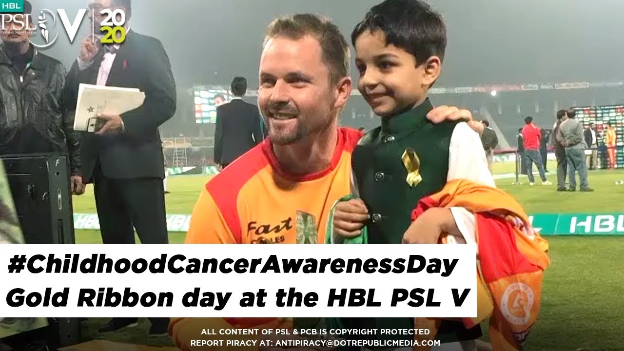 #ChildhoodCancerAwarenessDay - Gold Ribbon day at the HBL PSL V