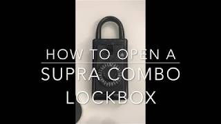 How to open a Combo Lockbox