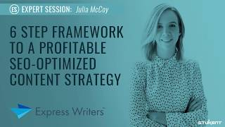 6 Step Framework to Profitable SEO-Optimized Content Strategy - Julia McCoy