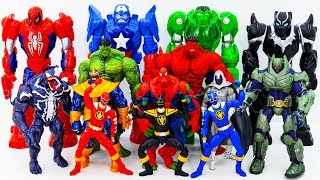 Power Rangers & Marvel Avengers Toys Pretend Play | Spider Hulk vs Grey Monster Rescue Scooby Doo