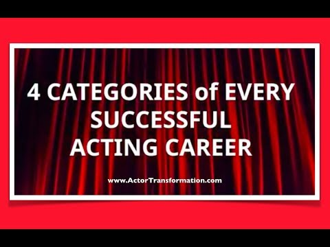 Every Successful Acting Career - 4 Categories
