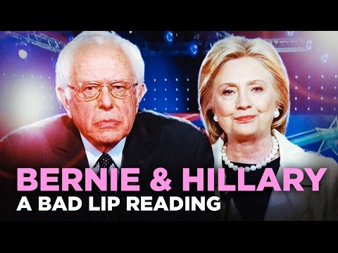 """BERNIE & HILLARY"" — A Bad Lip Reading from YouTube · Duration:  3 minutes 50 seconds"