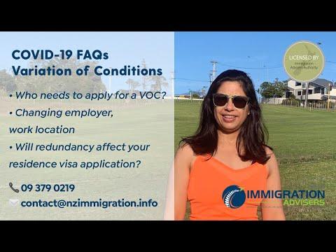COVID-19 FAQs - Variation of Conditions (Work Visa, Student Visa,...)