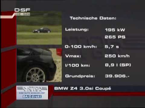 Bmw Z4 30si Coupe Gegen Porsche Cayman S Youtube