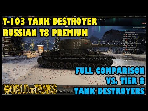 World Of Tanks: T-103 Tier 8 Russian Tank Destroyer | Full Comparison Vs. T8 Tank Destroyers