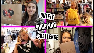 OUTFIT SHOPPING CHALLENGE! | BACK TO SCHOOL OUTFIT VOOR ELKAAR SHOPPEN IN AMERIKA EN OP IBIZA!
