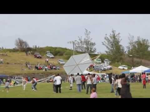Attempt To Fly Large Kite Good Friday St David's Bermuda Apr 6 2012