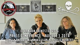 Pamela Anderson Press Conference for Operation Grindstop