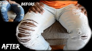 DIY How to Lighten Denim Jeans Tutorial dyrandoms