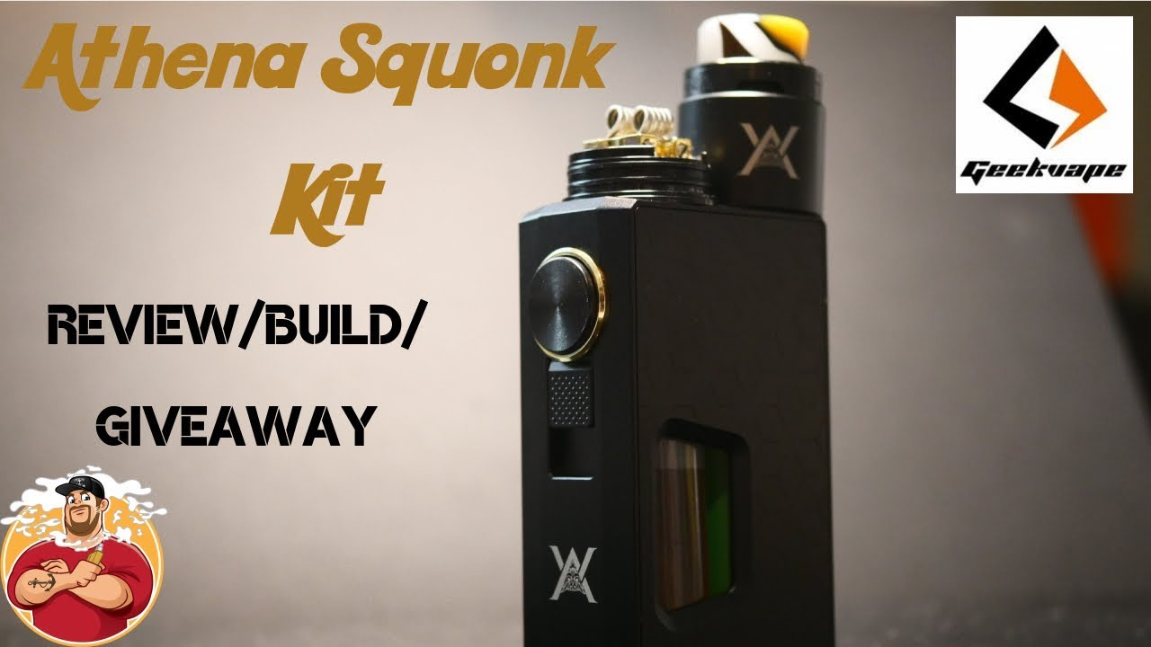 Athena Squonk Mod Kit by Geekvape Review/Build/Giveaway   Best Squonk Kit!!