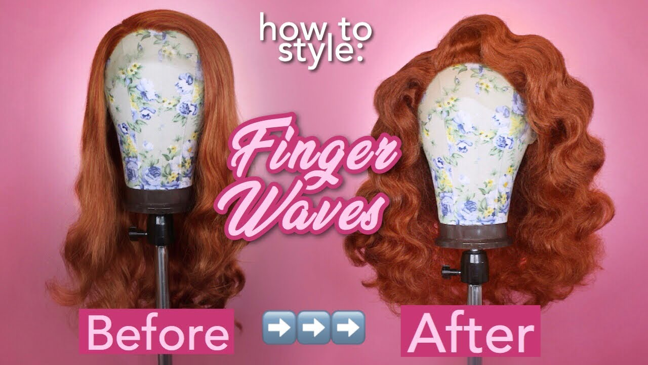 How to Style a Wig: Finger Waves Tutorial | Drag Queen Wig