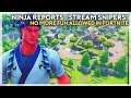 """Ninja Reports """"Stream Sniper"""", No More Fun Allowed In Fortnite? (Fortnite Battle Royale)"""