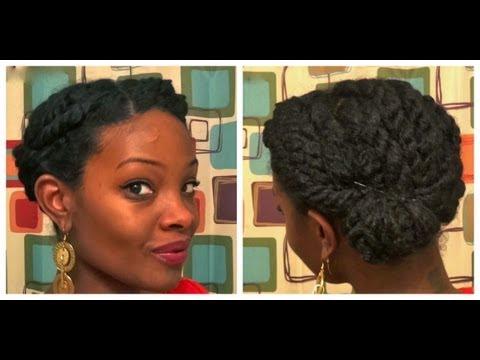 twisted side bun natural hair