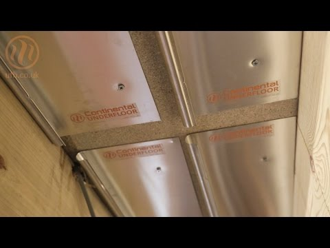 Underfloor heating fit-from-below AluPlate™ install Continen