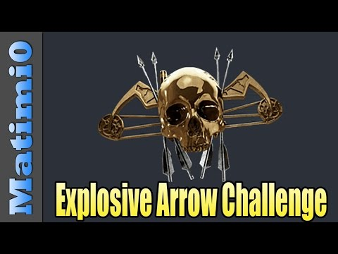 Bow Explosive Arrow Challenge - Battlefield 4