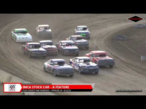 Stock Car Feature - Clay County Speedway - 8/12/18