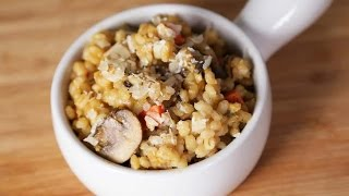 Mushroom Barley Risotto | Slow Cooker Meals