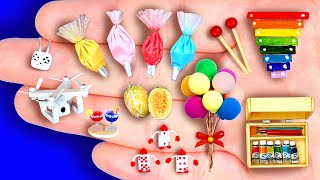 29+ DIY MINIATURE FOODS AND CRAFTS FOR DOLLHOUSE BARBIE
