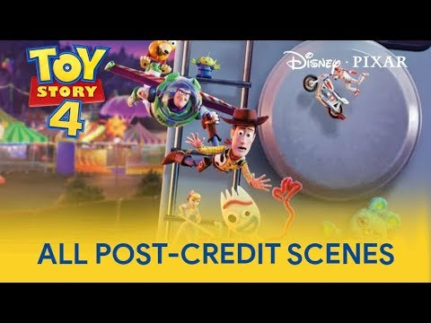 Pixar Toy Story 4 - All Post-Credit Scenes | Toy Story 4 Best Scenes | HD