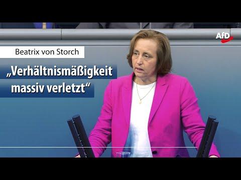 Beatrix von Storch zur Corona-Politik der Regierung