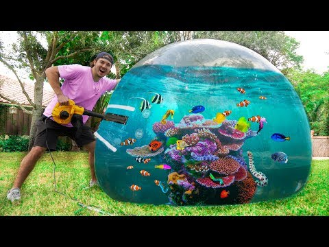 FIRST EVER BUBBLE BALL AQUARIUM! *fish Inside!*