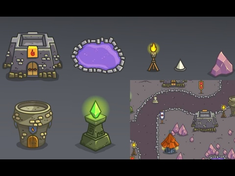 Top Down Tower Defense Art - Royalty Free Game Art Preview - YouTube