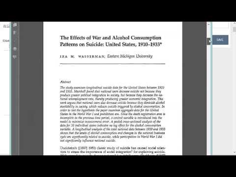 Using JSTOR for Sociology