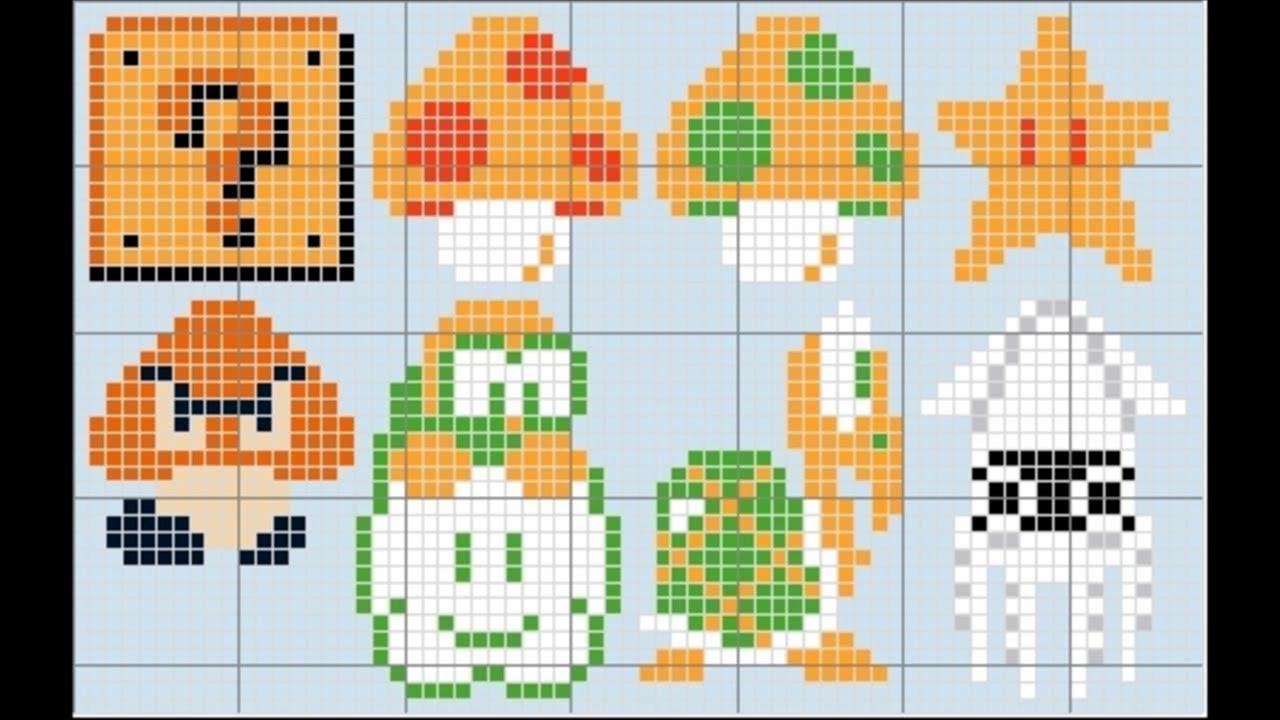 Patrones para punto de cruz especial Super Mario Bros| Aprende a ...