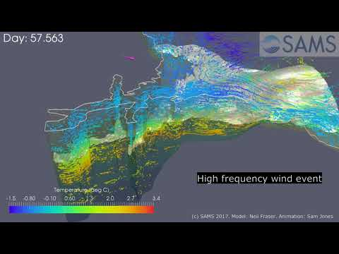 Strong wind events influencing fjordic circulation - Paraview
