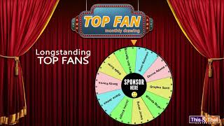Top Fan Winners for Aug 2020