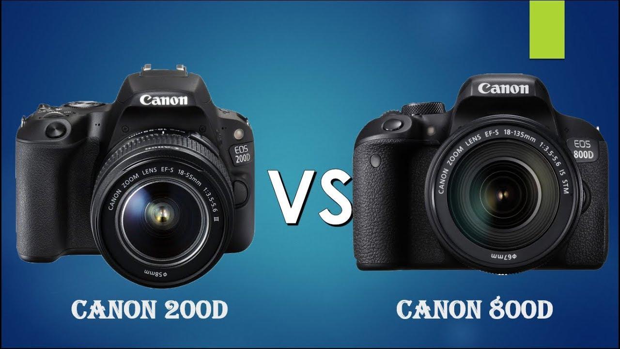 Canon 200D vs Canon 800D | Canon SL2 vs Canon Rebel T7i |