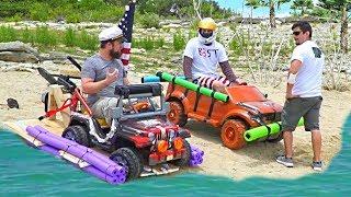 The $100 AMPHIBIOUS Power Wheels boat challenge!