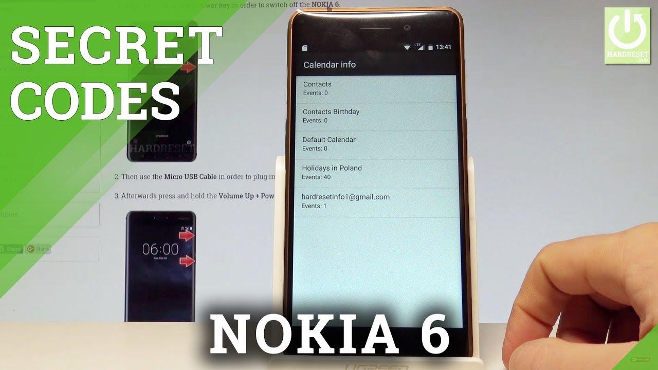 Codes NOKIA 6 1 Plus - HardReset info
