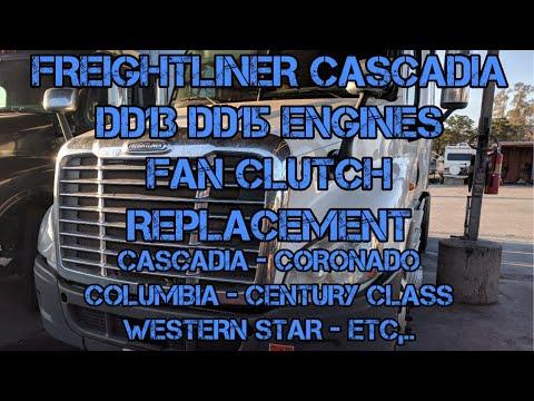 Freightliner Cascadia DD13 DD15 DD16 fan clutch replacement Series 60  Cummins ISX fan on