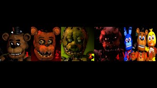 Five nights at freddy s 1 2 3 4 and FNAF WORLD TRAILERS
