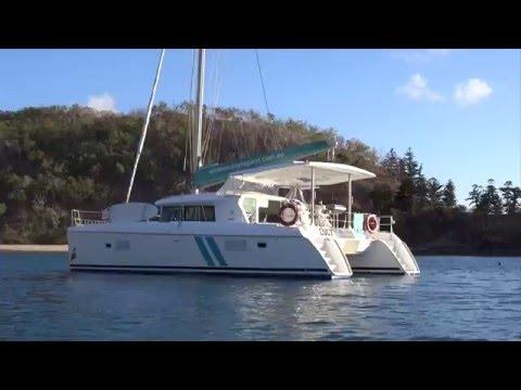 Sailing the Whitsundays on catamaran 'Lucy'