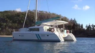 Sailing the Whitsundays on catamaran 'Lucy'