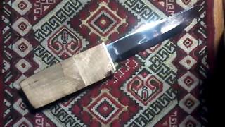 Обзор самодельных ножей. Охотничий нож с новой конструкцией клинка.
