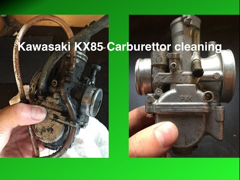 Cleaning KX85 Carburetor