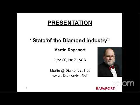 """""""State of the Diamond Industry"""" -  Martin Rapaport"""