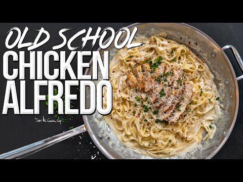 Old School Chicken Alfredo Recipe | SAM THE COOKING GUY 4K
