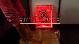 Свадебная авторская двусторонняя картина с подсветкой - Владимир Поэт Усков