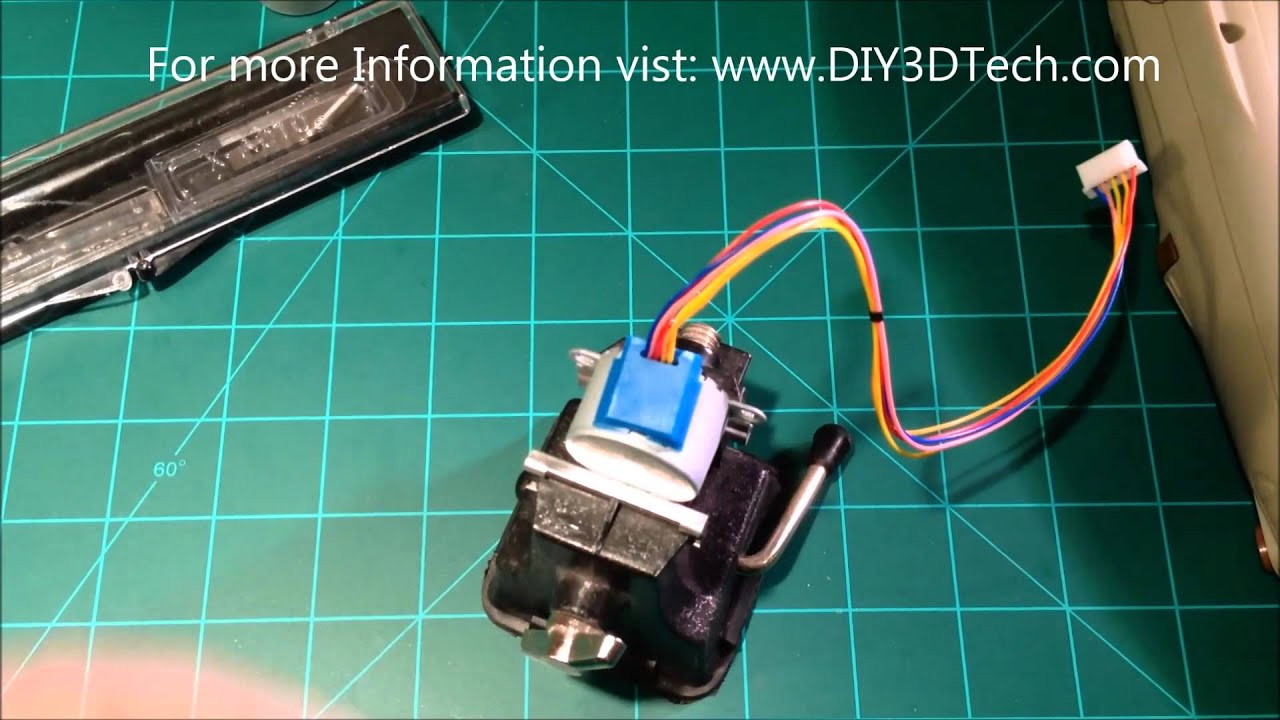 Converting A 28byj 48 Stepper Motor To Bipolar Format Part 1 Youtube Wiring Diagram 6 Pin Plug