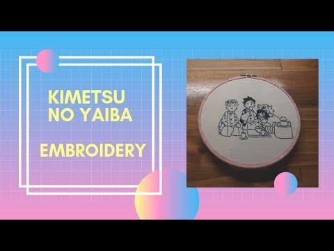 High Speed Embroidery - Kimetsu No Yaiba