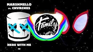 HERE WITH ME x SUNFLOWER [Mashup] - Marshmello, Post Malone, CHVRCHES, Swae Lee Video