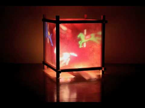 Carousel Children's Spinning Lamp by Magic Lamp - YouTube