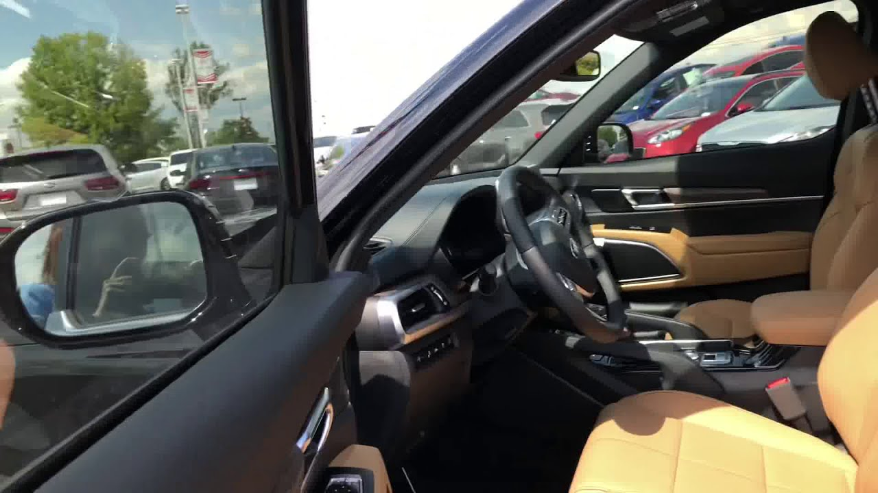 2020 Telluride Sx Walkaround Butterscotch Interior Jim Ellis Kia Of Kennesaw Youtube