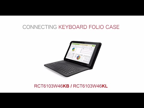 RCA Tablets | Connecting Your RCT6103W46KB Pro10 to the Keyboard Folio Case