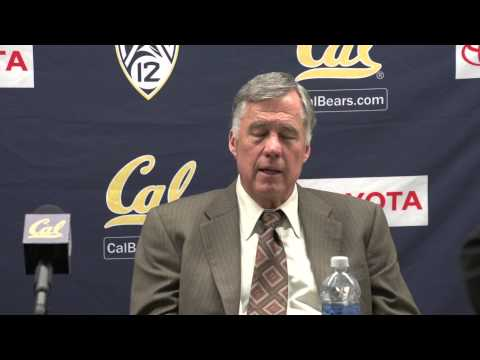 Cal Men's Basketball: Coach Montgomery (Wash. Post Game 1/15/13)
