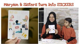 Wow!! Watch how Maryam and Sisters turn into Stickers at Muslimah Stickers Studio💟💓